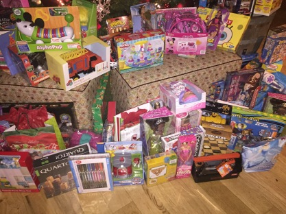 Generosity of the 100 Hispanic Women Guests, knowing a well-deserving child will get these for the holidays just warms our hearts